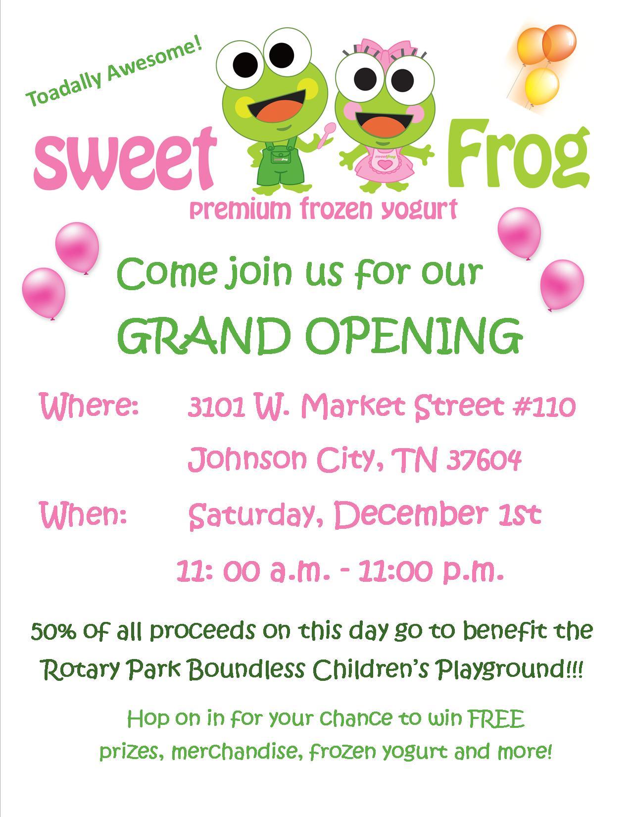 Sweet Frog | Johnson City, TN